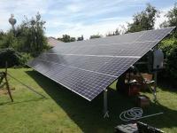 Földre telepített napelem tartószerkezet - Treesystem tartószerkezet 20 db napelemhez (72 cellás, 1x2 m-es méretű napele