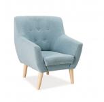 Nordic-1 fotel bükk/orinoco 1609 szövet