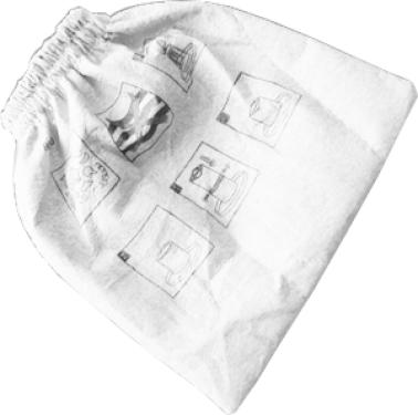Textil szűrőzsák (fehér)