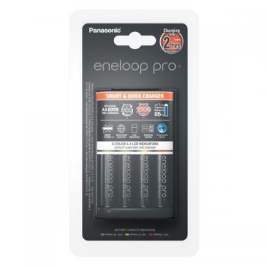 Panasonic BQ-CC55 intelligens akku töltő + 4xAA Eneloop Pro 2500 mAh tölthető elem
