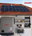 SHARP-SH-5kW-3PH, 17 000Ft/hó villanyszámlára. 5kW-os, 3 fázisú SHARP napelem csomag
