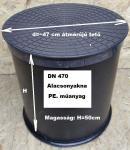 1.1 DN 470 PE. műanyag  alacsony akna lépésálló tetővel