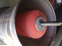 2.1. <> 100 L-es prés, állványos rozsdamentes tömlős prés - vizes