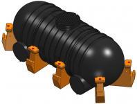 2.3 <> 5000 literes PE. szállítótartály, erősített kivitel - műanyag lábakkal;