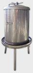 3. <> 150 L-es prés, rozsdamentes tömlős - vizes
