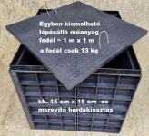 6.4. DN 1000/1050 szögletes akna, lépésálló tetővel