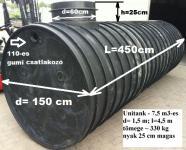 7.2. <> UNITANK - 7,5 m3-es műanyag esővíz tartály, lépésálló tetővel