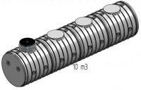 7.7. <> UNITANK - 10 m3-es műanyag esővíz tartály, lépésálló tetővel
