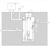 2.1 - DN 800 S szennyvíz átemelő akna BT 4877 K szivattyúval