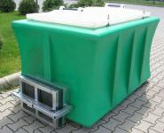 3. Hal szállító tartály - zöld, ajtóval, fedéllel;