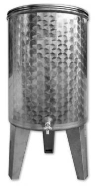 09. 100/101 L, álló bortartály, pálinkatartály,1 csap - KÚPOS*