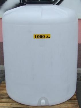 1.2. <> PEW-AT - 1 m3-es - álló henger - műanyag ivóvíz tároló tartály+tető