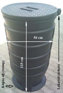 1.2 - DN 500 szennyvíz átemelő akna, lépésálló tetővel