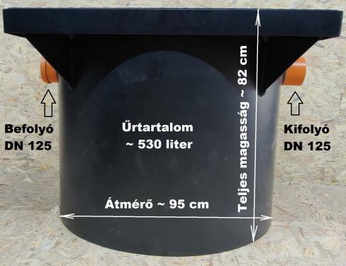 1.3. <> Előszűrő / ülepítő akna esővízgyűjtő tartályokhoz - DN 1000 - 530 liter