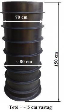 1.4 - DN 700 szennyvíz átemelő akna lépésálló tetővel