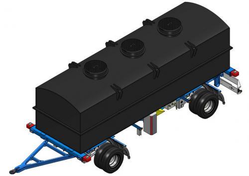 4. 15 m3-es PE. műanyag szögletes szállító tartály AJÁNLAT