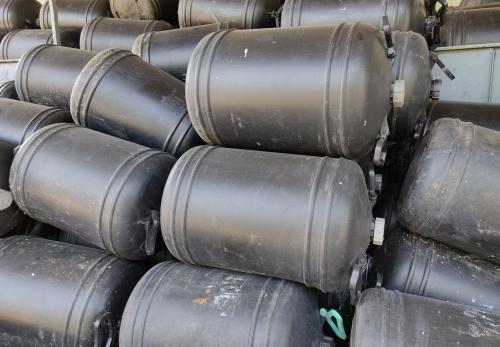 1.  <> 50 literes műanyag kanna / ballon / hordó / ballon - BIDON - használt, tiszta