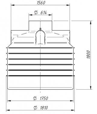 2.7. <> UNITANK-3W, 3000 literes műanyag ivóvíz tartály, lépésálló tetővel