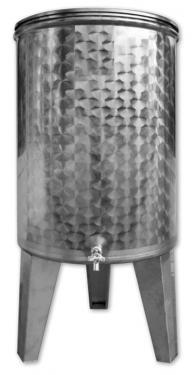 16. 150/160 L, álló bortartály, pálinkatartály, 1 csap - KÚPOS*