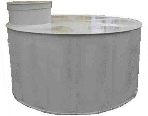 1.1 - PP./PE. 3 m3-es tűzi-víz tartály, lépésálló tetővel