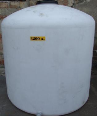 2.8. <> PEW-AT - 3,2 m3-es - álló henger - műanyag ivóvíz tároló tartály+tető