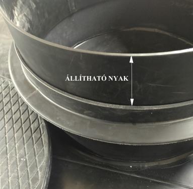 2. <> Állítható nyakmagasító, DN 600 - as méretű nyakhoz - 15 cm - utólag is beépíthető!