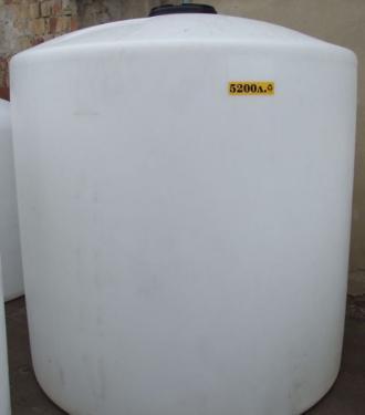 3.6 <> PEW-AT - 5,2 m3-es - álló henger - műanyag ivóvíz tároló tartály+tető