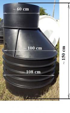 5. DN 1000/1500 műanyag vízóraakna - erősített- lépésálló tetővel