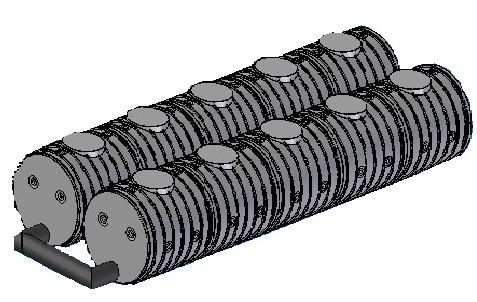 5.1 UNITANK-25F / 25 m3-es tűzi-víz tartály, lépésálló tetővel
