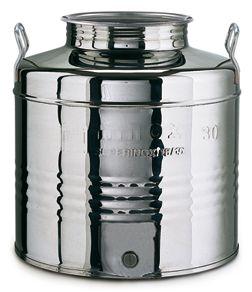 018. 15 L-es rozsdamentes acél bortartály / pálinkatartály, álló - OLASZ