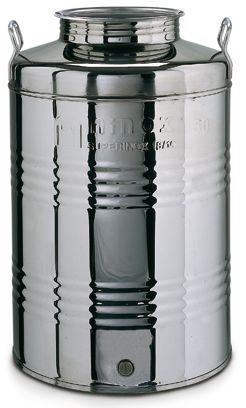 093. 100 L-es rozsdamentes acél bortartály / pálinkatartály, álló - OLASZ
