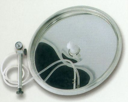 1. Komplett rozsdamentes tömlős fedél d = 380 mm
