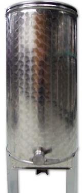 6.4 ~ 600 kg méztartály rozsdamentes acél mézcsappal, tetővel