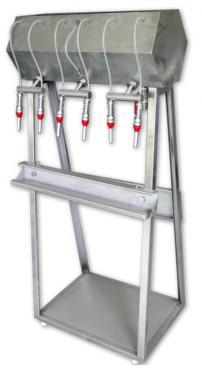 6. <> 6 fejes állványos palackozó gép