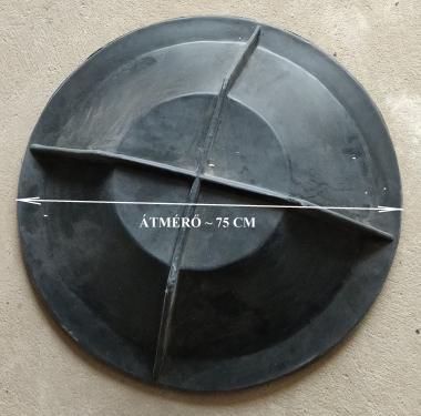 6. DN 600 - DN 750 lépésálló erősített zöldterületi műanyag fedél /fedlap