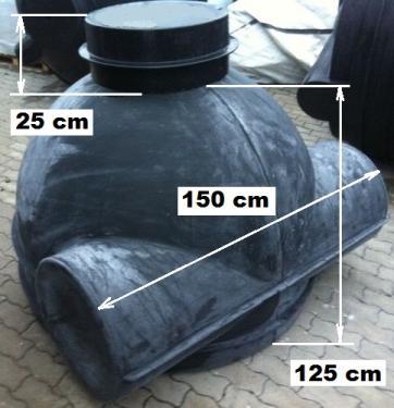 7.2.  DN 1500 D akna, lépésálló tetővel