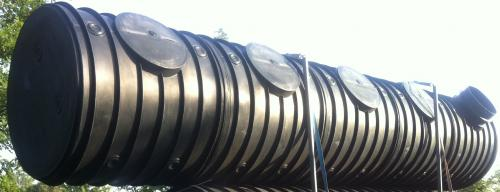 7.9. <> UNITANK - 12,5 m3 -es műanyag szennyvíz tartály, lépésálló tetővel