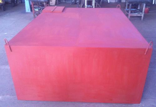 9. 10 m3-es szögletes acél szállító tartály
