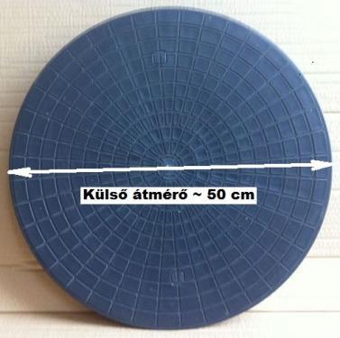 2. DN 470 mm-es PE lépésálló műanyag tető