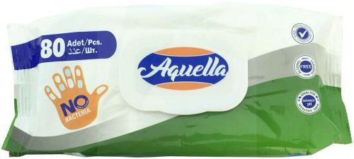 AQUELLA antibakteriális nedves törlőkendő / 80db