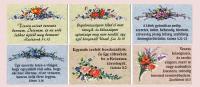 Igekártya / Halleluja mini virágos