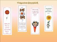 Könyvjelző / Virágszirom