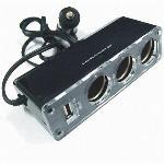 Szivargyújtó elosztóx3 +USB alj.
