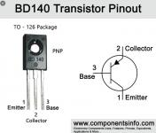 BD 140 PNP tranzisztor