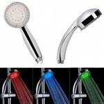 LED hőre színváltó zuhanyfej
