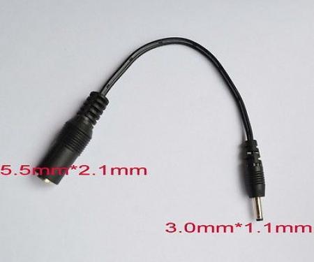 2,1X5,5 mm - 3,0X1,1 mm DC dugó adapter