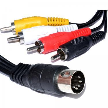 DIN 5 p - 4RCA kábel 1,5 m