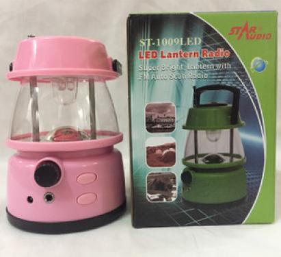 LED kemping lámpa rádióval