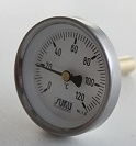 Átmérő: 63mm,0...+120°C, védőcsöves bimetál hőmérő L=200mm