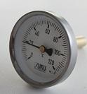Átmérő: 63mm,0...+400°C, védőcsöves bimetál hőmérő L=150mm